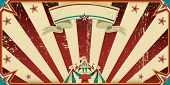 invitation dirty circus. Circus invitation with sunbeams. A retro invitation card for your circus co