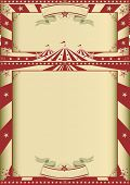 vintage circus show. A grunge circus vintage poster with two frames for your message.