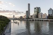 Brisbane Cityscape by the Brisbane River
