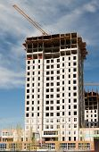 Astana Kazakhstan - May 5, 2014: Construction new apartment house