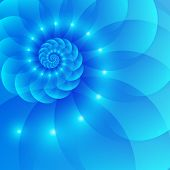 Blue spiral abstract vector background