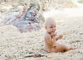 Little child on the beach