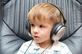 Portrait of a boy in headphones