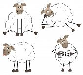Set of funny sheep