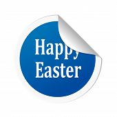 Happy Easter blue sticker