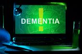 Notebook with words dementia