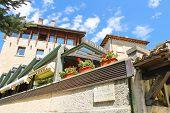 Modern Building Restaurants In San Marino. The Republic Of San