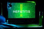 Notebook with words hepatitis