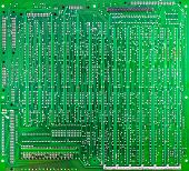 Green Circuit Board Of Computer