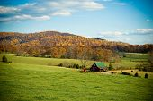 Rural Mountain Scene in Fall