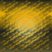 Orange circle gradient plaid texture