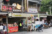 HOUTONG, TAIWAN - August 26th : Old shopping street near Houtong station, Houtong, Taiwan on August 26th , 2014. Houtong is famous cat village in Taiwan.