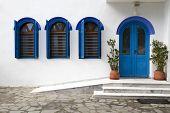 stock photo of lagos  - Beautiful windows and door at Saint Nikolaos Monastery - JPG