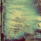 Antique vintage texture, old-fashioned weathered background. With different color patterns: yellow; gray; blue; violet; cyan