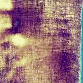Old grunge textured background. With different color patterns: yellow; purple (violet); blue; beige