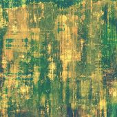 Old-style background, aging texture. With different color patterns: yellow; brown; green; beige