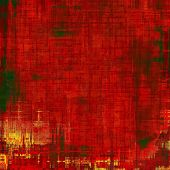 Old grunge antique texture. With different color patterns: yellow; green; red; orange