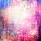 Old vintage background with retro-style elements and different color patterns: blue; purple (violet); pink; red