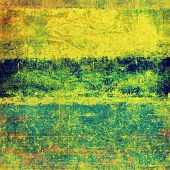 Dirty and weathered old textured background. With different color patterns: yellow; brown; green; blue