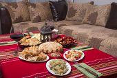 Traditional Bulgarian Christmas Table Setup