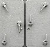 Detail Of Metal Ship Doors