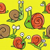snail seamless pattern cartoon illustration