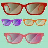 Set Of Colored Glasses02