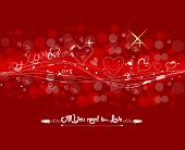 valentine with fly hearts background