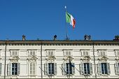 Постер, плакат: Italian Flag In Royal Palace Of Turin