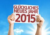 Happy New Year 2015 (In German) card with a beautiful day