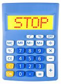 Calculator With Stop On Display Isolated