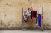 Clothes hanging outdoor at a playground