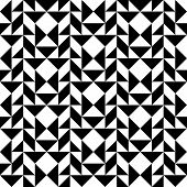pic of trapezoid  - Black and white geometric seamless pattern with triangle trapezoid and square abstract background vector illustration - JPG