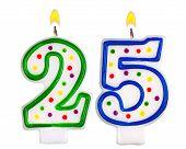 Birthday Candles Number Twenty Five