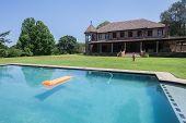 Girl Pool House Landscape