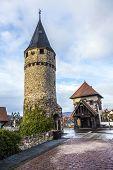 Part Of The Original Drawbridge Tower That Lead To The Castle In Bad Homburg, Near Frankfurt