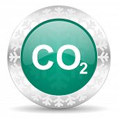 picture of carbon-dioxide  - carbon dioxide green icon - JPG