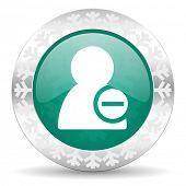 remove contact green icon, christmas button