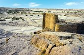 picture of dam  - ruins of old historic dam in marib Yemen - JPG