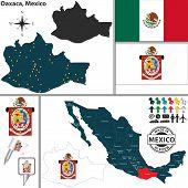 Map Of Oaxaca, Mexico