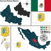 Map Of San Luis Potosi, Mexico