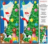 image of christmas theme  - New Year or Christmas holiday themed visual puzzle - JPG