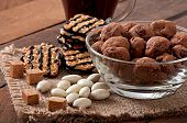 picture of baked raisin cookies  - Italian cookies Florentino with raisins and walnuts - JPG