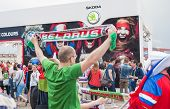 Minsk-belarus, May, 20: Ice-hockey Fans In Minsk Having Fun Prior To International Ice Hockey Tourna