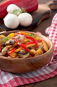 foto of sauteed  - Sauteed mushrooms with pumpkin and sweet pepper  - JPG