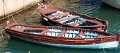 picture of old boat  - Two old wooden boats on the berth - JPG