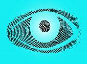 pic of dna fingerprinting  - a fingerprint designet eye modern symbol good quality - JPG