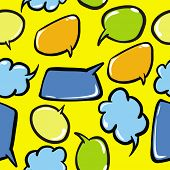 speech bubbles seamless pattern cartoon illustration