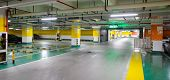 SHENZHEN - DEC 16: underground parking in ShenZhen on December 16, 2014 in Shenzhen, China. ShenZhen is regarded as one of the most successful Special Economic Zones.