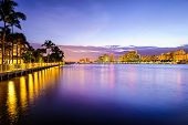 West Palm Beach Florida, USA cityscape on the Intracoastal Waterway.